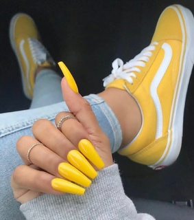 nails, car and sneakers