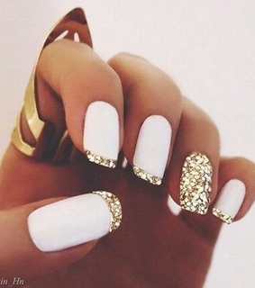 polish, gold and white