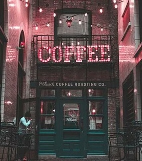 coffee, red and night