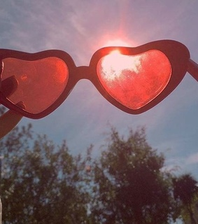 sun, heart shaped and aesthetic