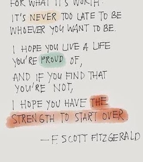 f scott fitzgerald, be who you're and proud