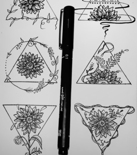 design, flower and tattooidea