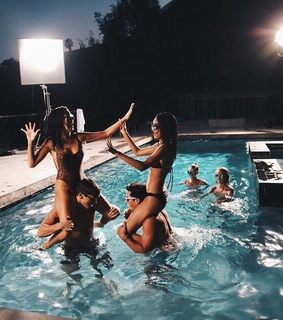 friendship goals, pool and water