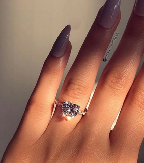 ring, heart and diamond
