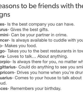friends, reasons text post and Leo