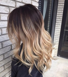 curly hair, ombre hair and pretty
