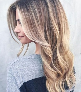 ombre, hairstyle and beauty