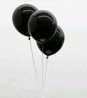 black and white, asthetic and baloons