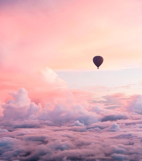 emoji, pink sky and balloon