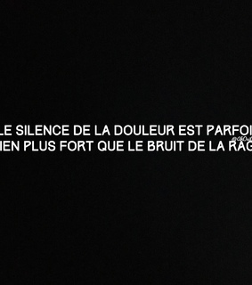 rage, partage and silence