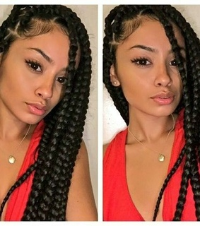 braids, makeup and fashion