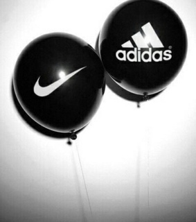 nike, adidas and black and white