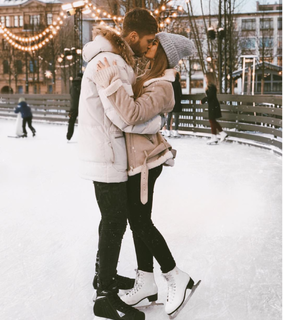 date, couple and winter