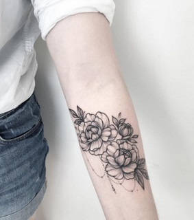 tattoo, flowers and arm