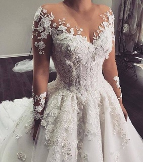 bridal gown, wedding dress and fashion