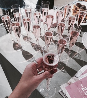 champagne, pink and rose gold
