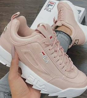 sneakers, love and baby pink