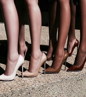 taned, heels and fashion