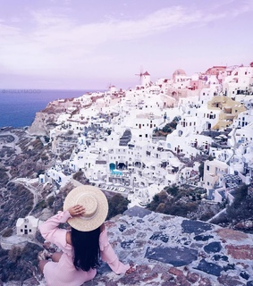 travel, hat and Greece