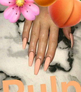 pink, peach and nails