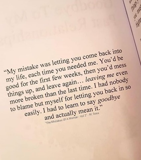 letting go, quote and broken