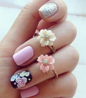 flowers, goals and nails