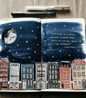 moon, quotes and artist