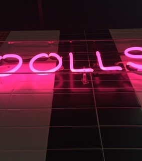 sign, dolls and neon