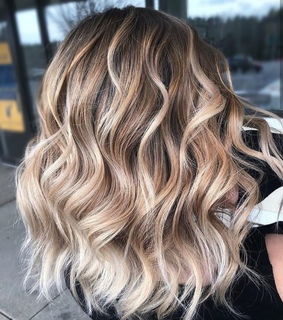 wavy, blonde and hair
