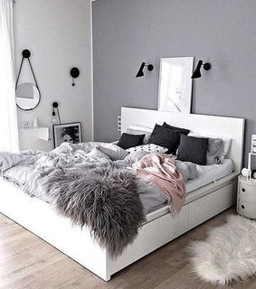 bed, grey and stuff
