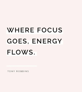 focus, energy and flows