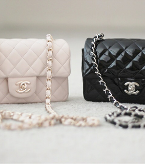 purse, chanel and black