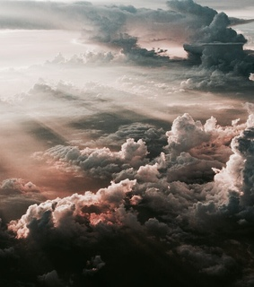 clouds, peace and beautiful