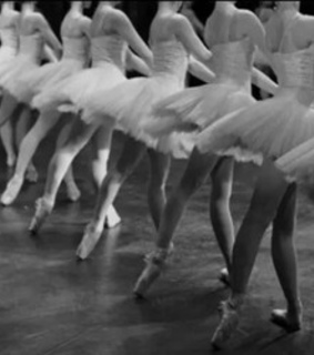 ballerinas, black and white and dance