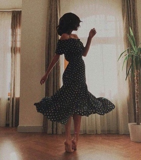 woman, dress and vintage