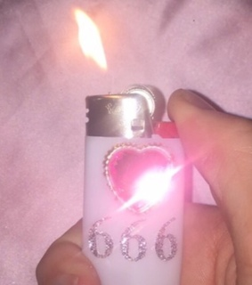 lighter, 666 and pink