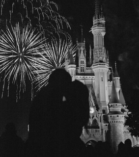 love, black and white and castle