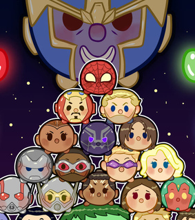 comics, thanos and chibi