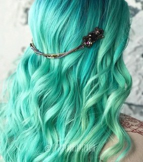 green hair, hair and hairstyle