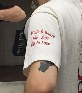 quote, tattoo and Playboy