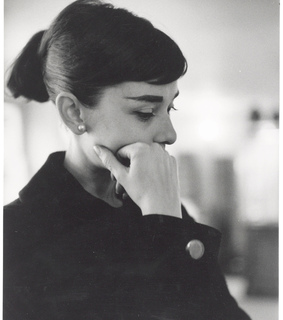 audrey hepburn and black and white