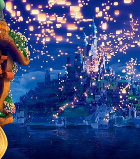fantasy, rapunzel and nighttime