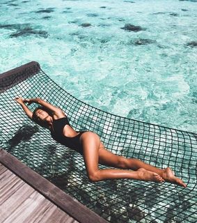 Maldives, travel and fashion