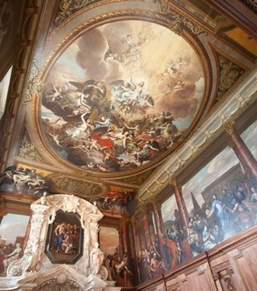 chatsworth house, england and frescoes