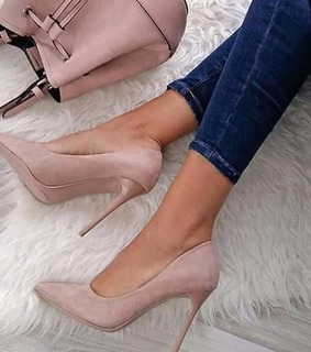 heels, woman and shoes