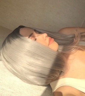 tumblr, hairstyle and silver