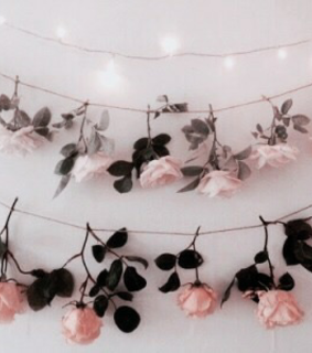 wreath, flowers and pink
