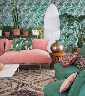 green, room decor and pink aesthetic