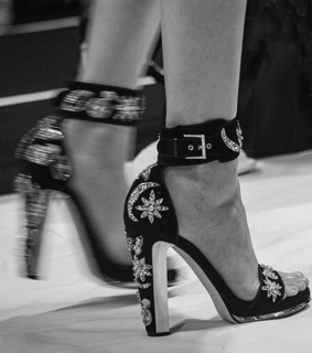 black and white and shoes