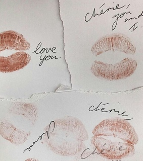love letter, kiss and kisses
